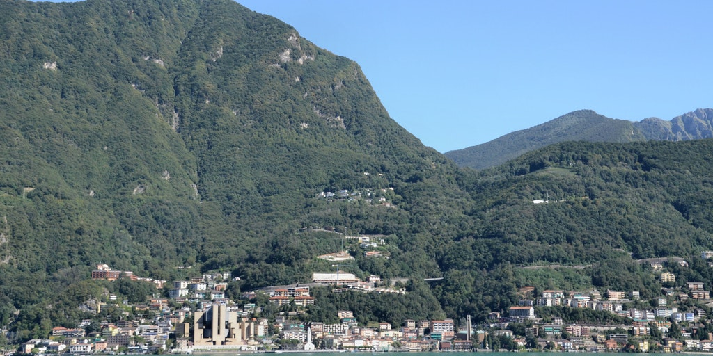 Campione d'Italia is beautifully situated between the lake and a mountain ridge