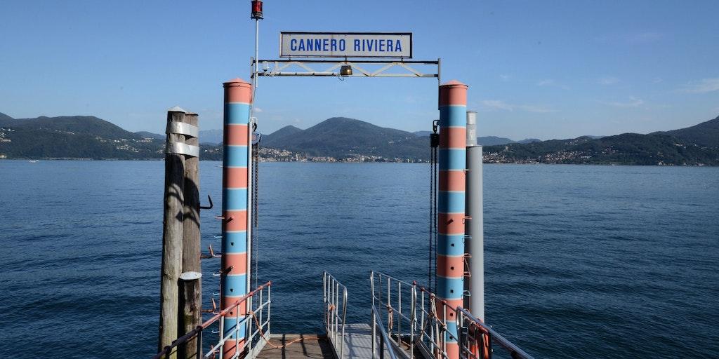Eine Anlegestelle am Lago Maggiore