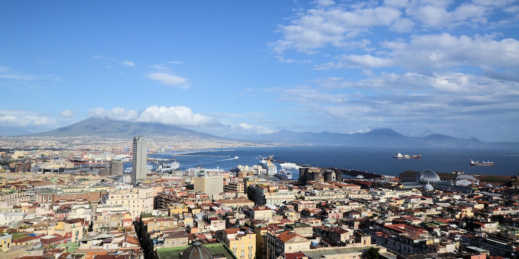 The hotel's views of Naples, Mount Vesuvius and the Bay of Naples