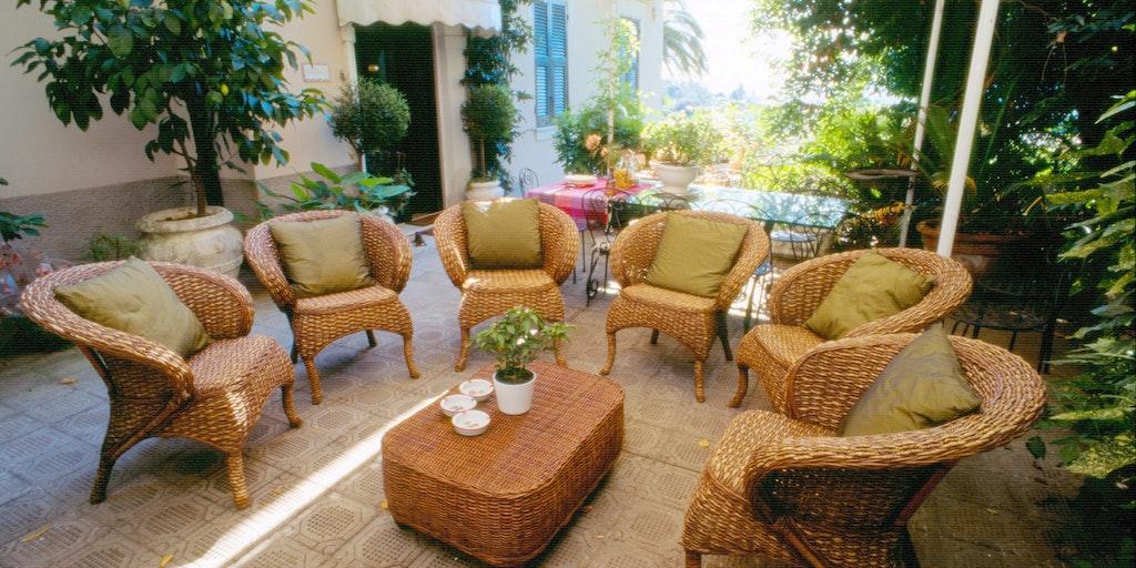 Une autre des nombreuses terrasses de la villa