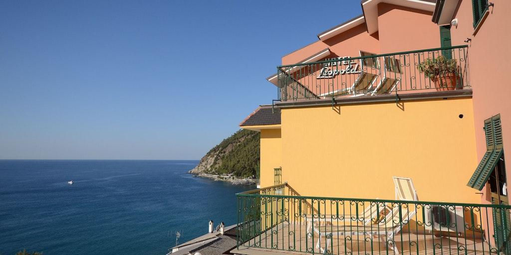 Den nedersta terrassen är till ett av Superior-rummen