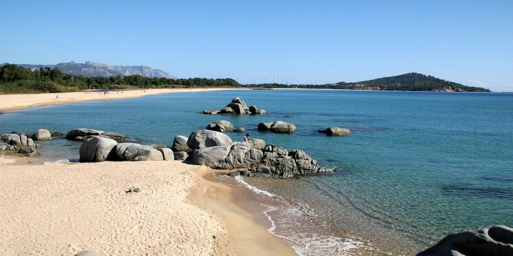 The golden sandy beaches of Lido di Orri