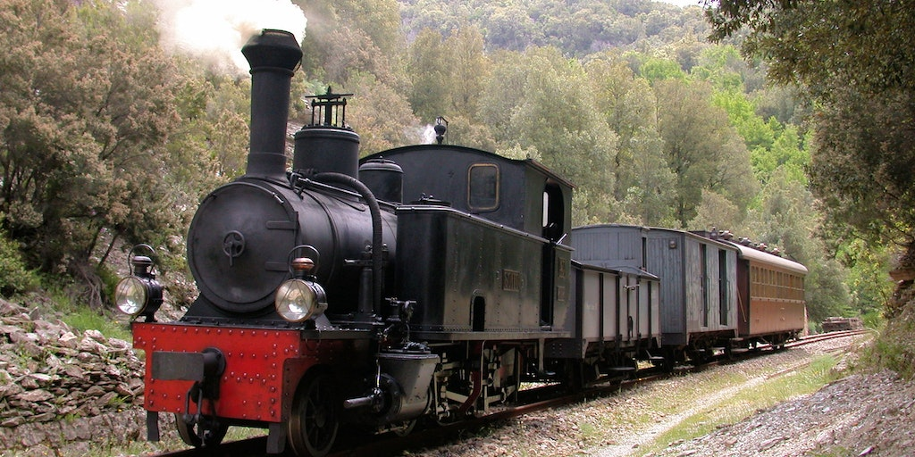 Veteran train Trenino Verde ending in Arbatax