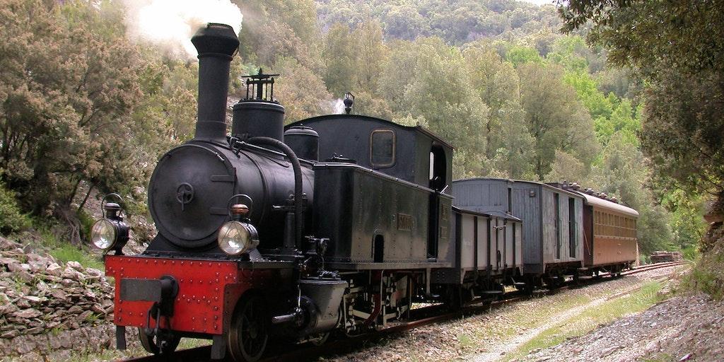 Veteran train Trenino Verde ending in Arbatax