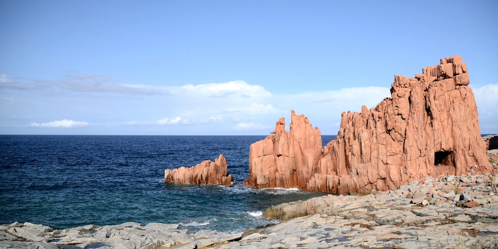The rock formations Rocce Rosse in the centre of Arbatax