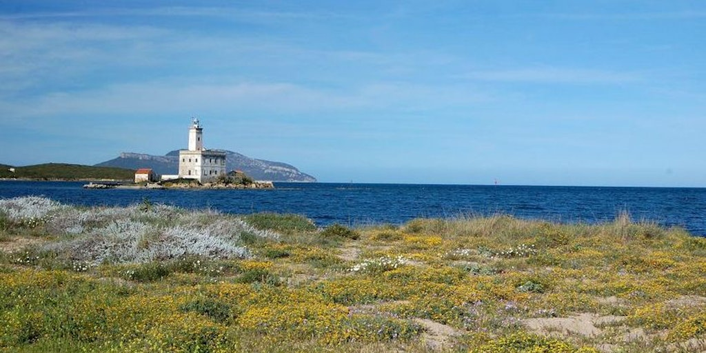 The lighthouse at the entrance to Olbia