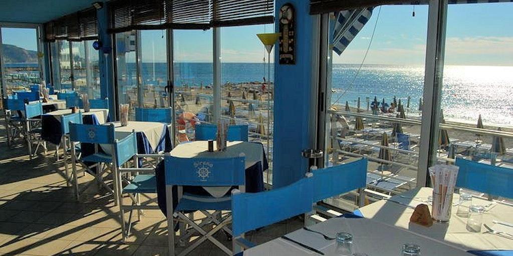 Den private stranden <em>Bagni Sirena</em>
