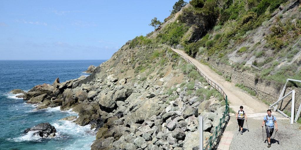Der Weg in die Nachbarstadt Bonassola