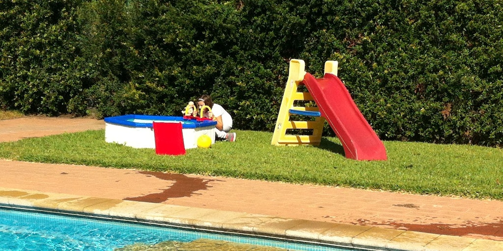 The small pool for young children