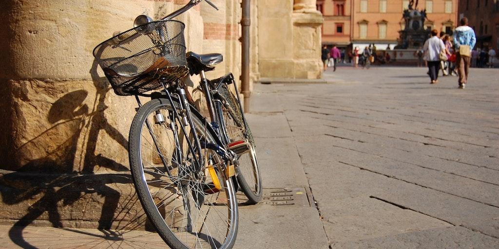 Man cykler også i Bologna