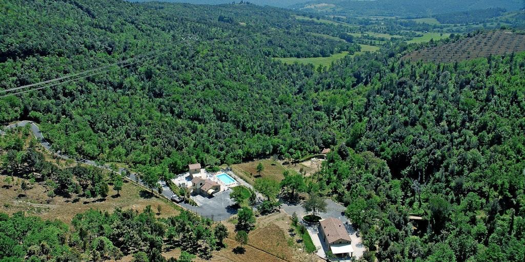 <p>Vue aérienne de Borgo Massera</p>