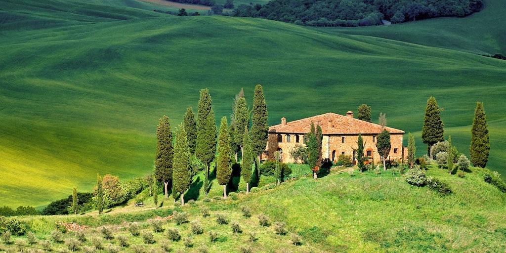 Die grünen Hügel der Toskana