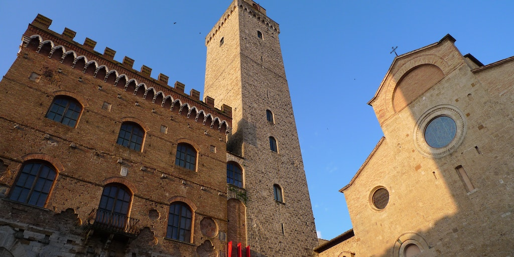 The main square in San Gimignano