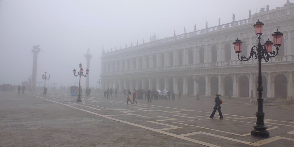 St. Mark's Square in the morning fog