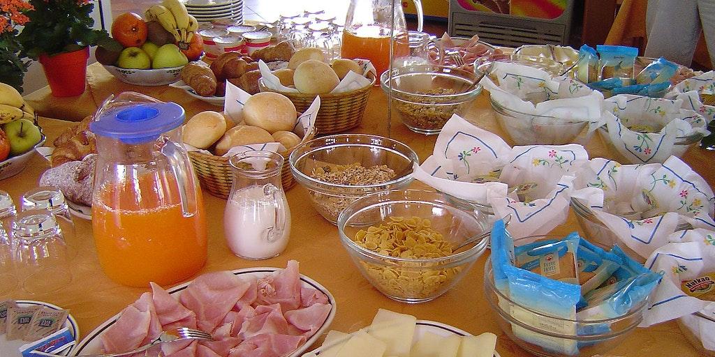 Morgenmad på Residence Liana