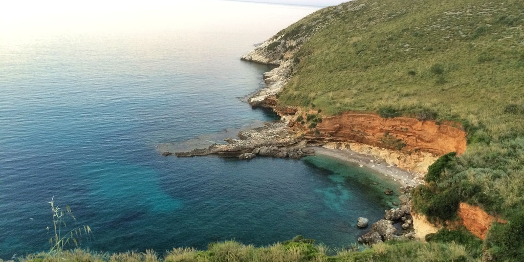 The beach down the cliffs by Villino dei Gabbiani