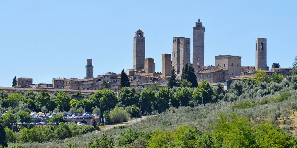 San Gimignano with its beautiful towers