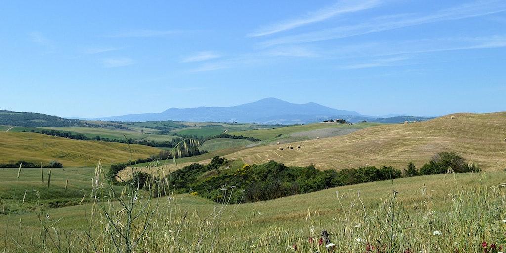 View towards Mount Amiata