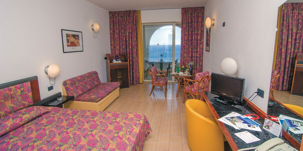 Example of a room in Hotel Le Olimpo