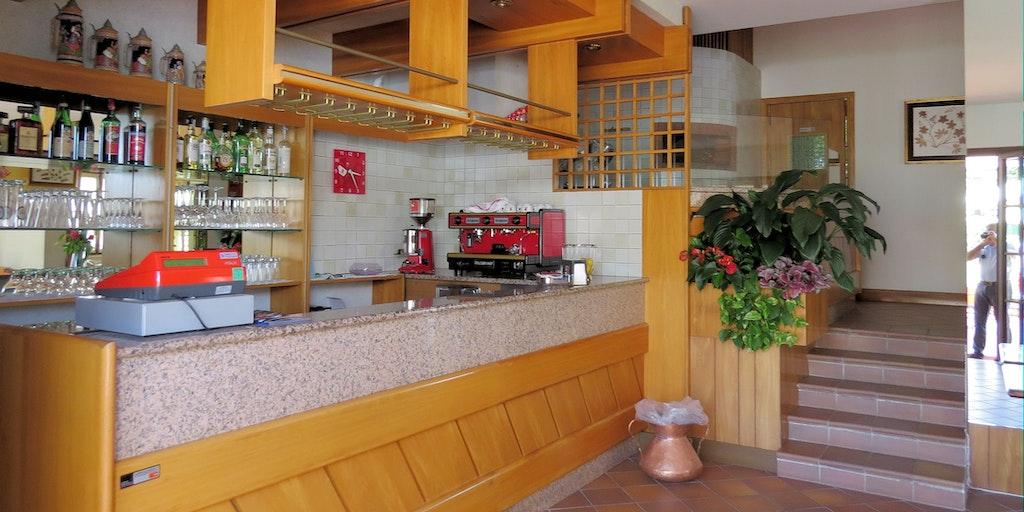 Den lille café på Residence Liana