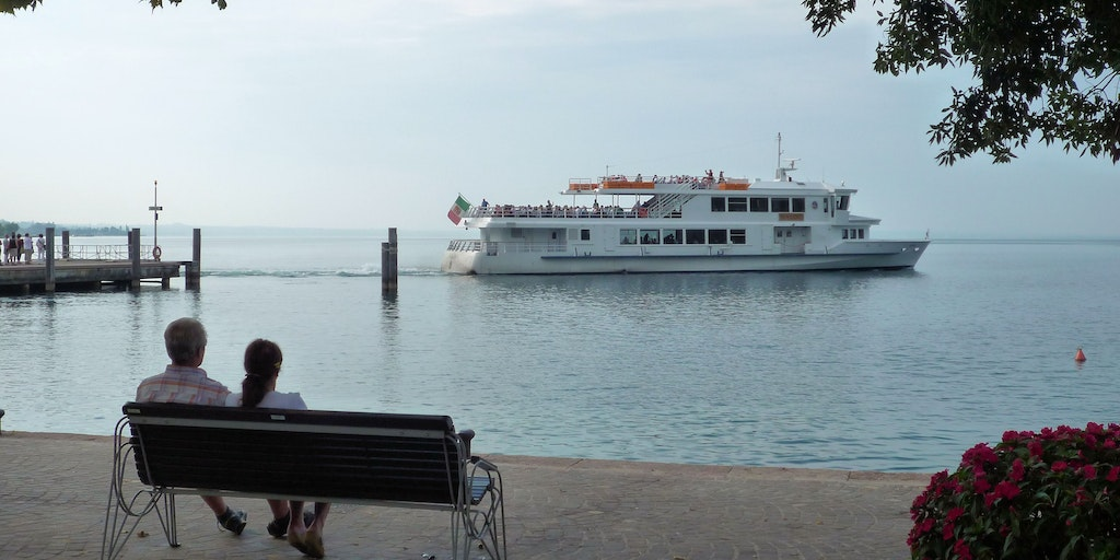 The ferry often departs to the other towns on Lake Garda