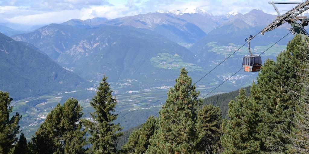 Kabelbanen op til Plose (1.067 m.o.h.)
