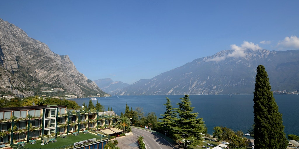 View of Lake Garda from Limone sul Garda